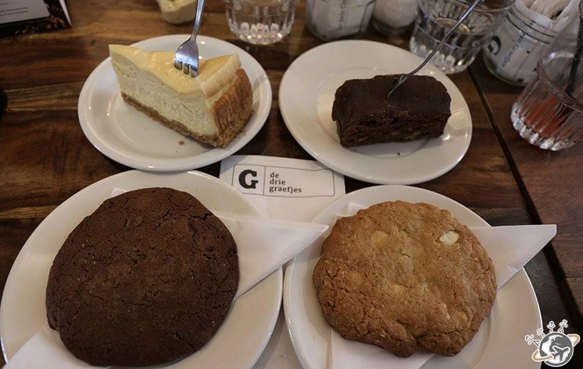Les desserts chez De Drie Graefjes à Amsterdam
