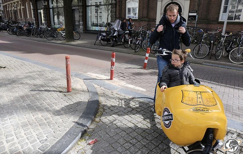Balade en vélo cargo dans Jordaan