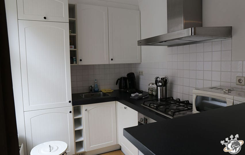 La cuisine de l'appartement.