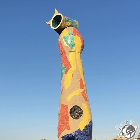 Le parc Joan Miro à Barcelone