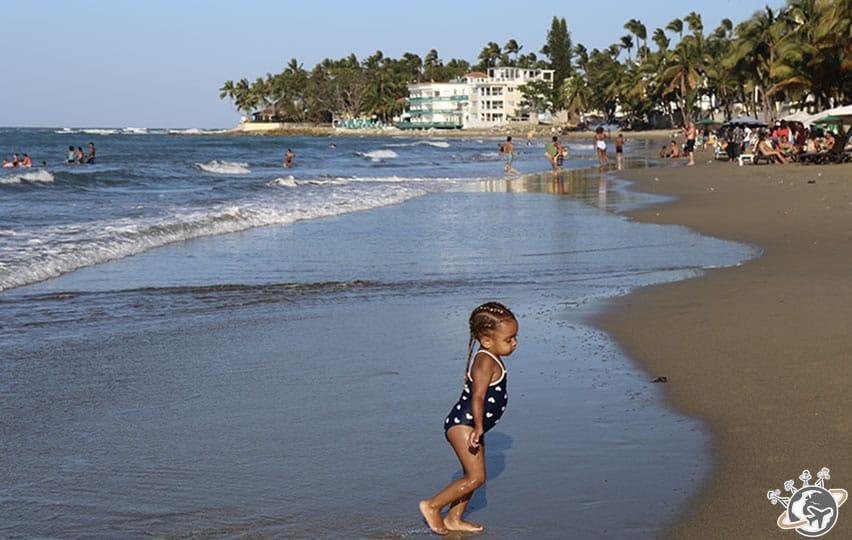 La plage de Cabarete à Puerto Plata, République dominicaine