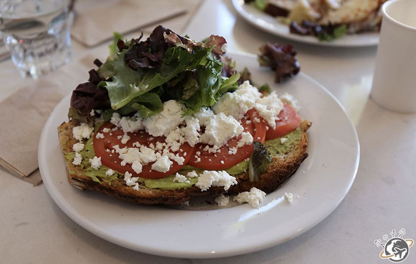 L'avocado toast du Rigolo Restaurant à San Francisco