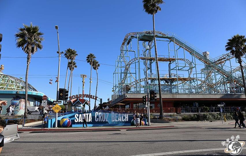 Le boardwalk de Santa Cruz