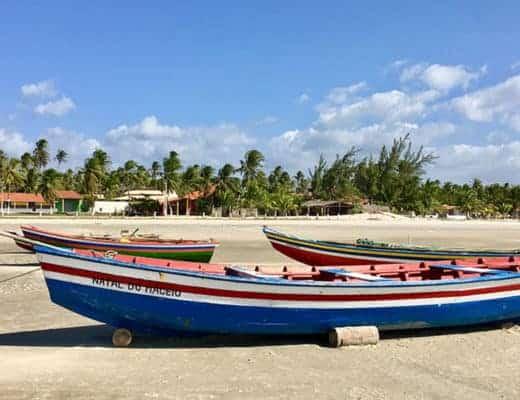 Praia do Maceio à Camocim au Brésil