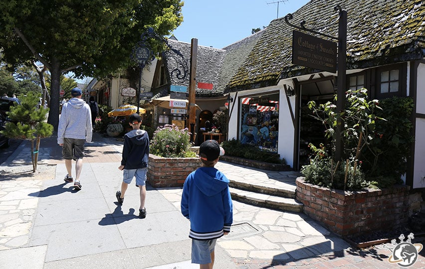 Le centre-ville de Carmel-by-the-sea en Cali
