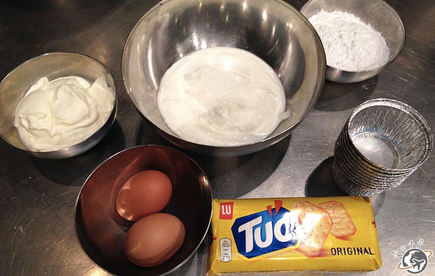 les ingrédients du cheese cake
