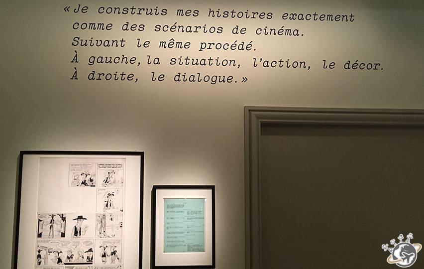 Exposition Goscinny et le cinéma à la cinémathèque de Paris