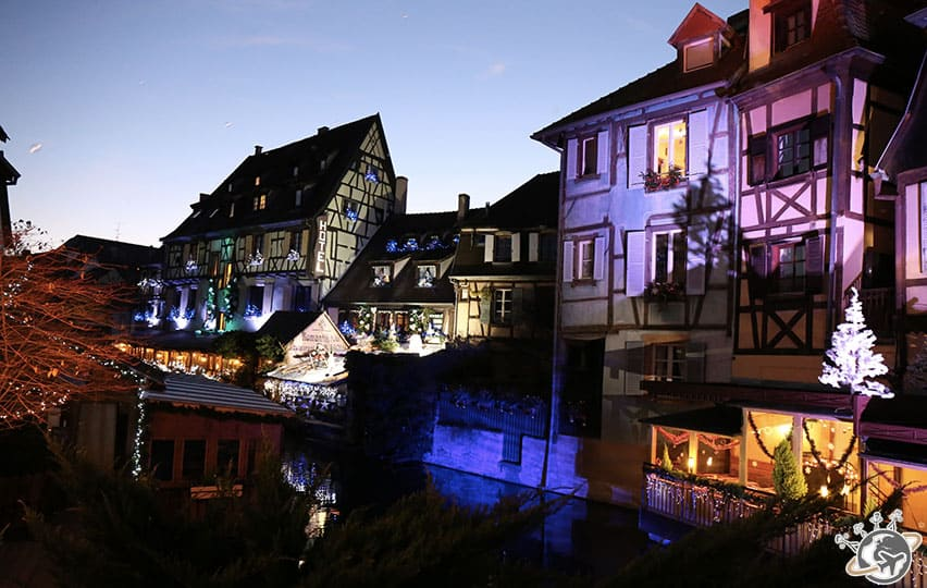 la nuit tombe à Colmar