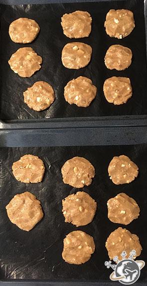 Les cookies avant cuisson