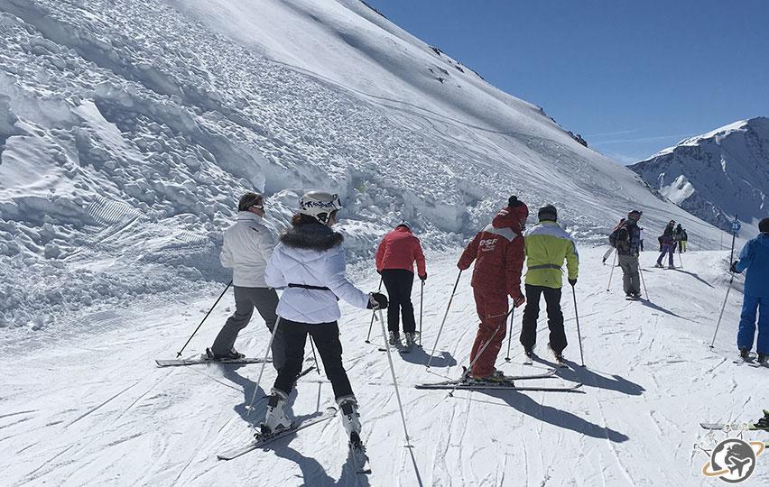 Cours de ski avec Xavier.