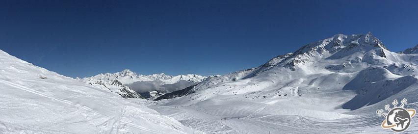 Paradiski, une domaine skiable qui comprend les Arcs et La Plagne.