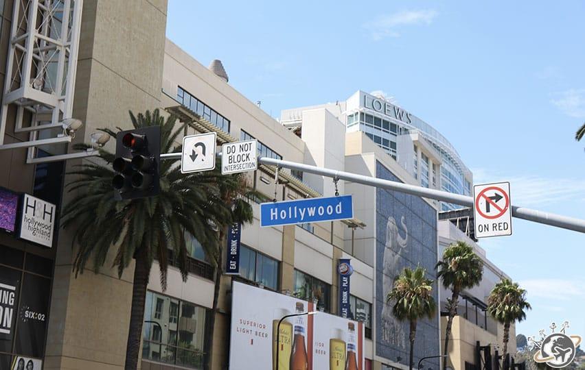 Hollywood boulevard à Los Angeles en Californie