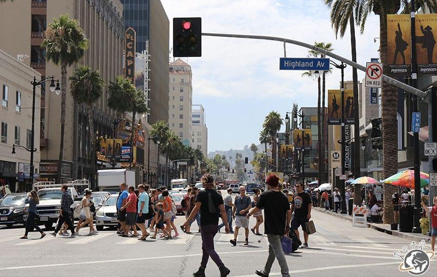 Highland avenue à Los Angeles en Californie