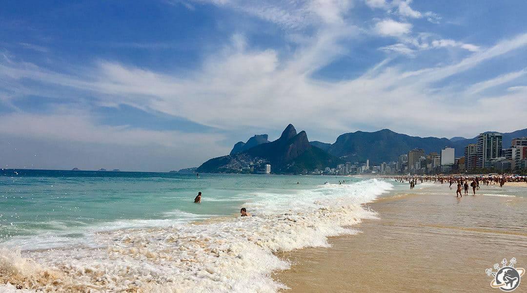La plage d'Ipanema à Rio au Brésil