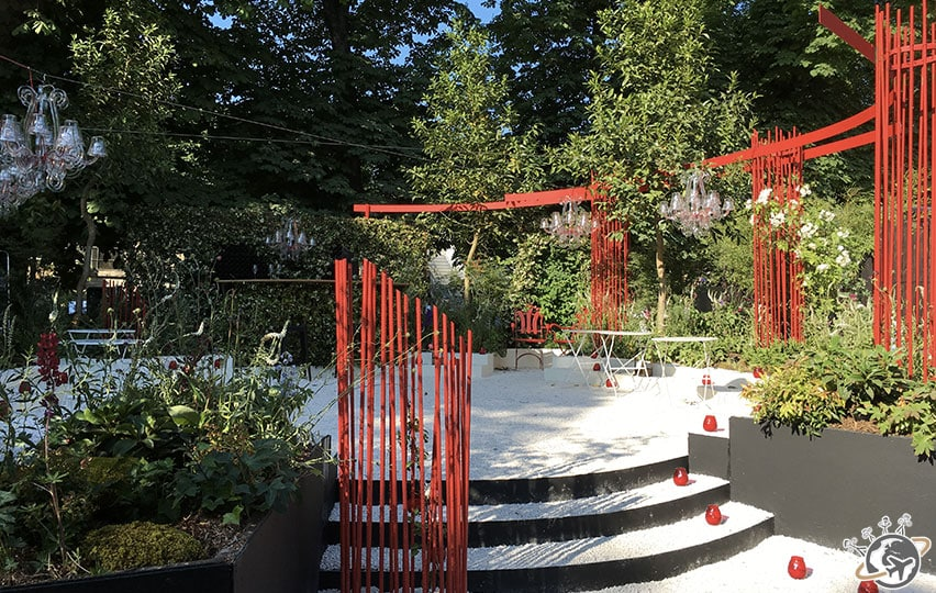 Le jardin rouge et blanc
