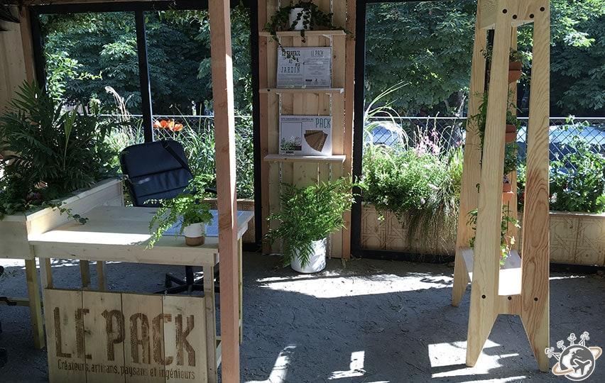 La pack, bureau végétal