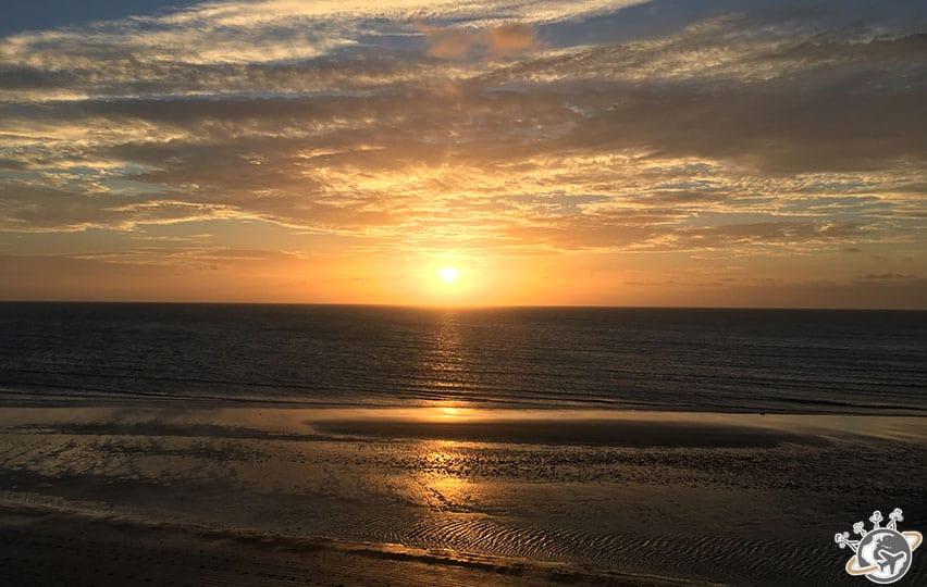Le coucher du soleil à Jericoacoara au Brésil
