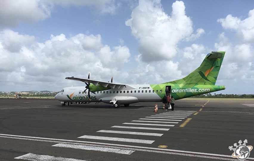 Avion ATR, compagnie Air Antilles Express entre Martinique et Guadeloupe