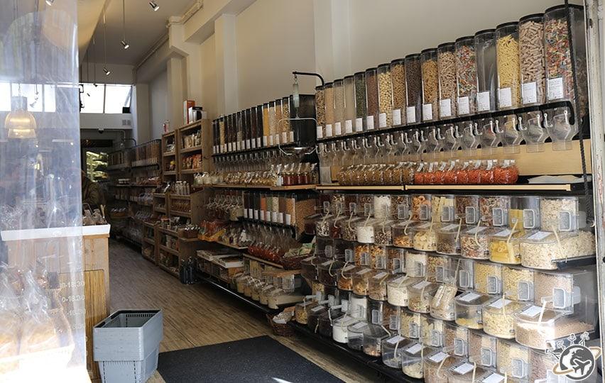 Une boutique organique avec beaucoup de choix