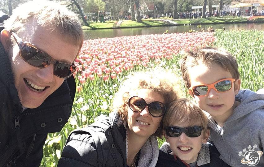 En famille à Keukenhof