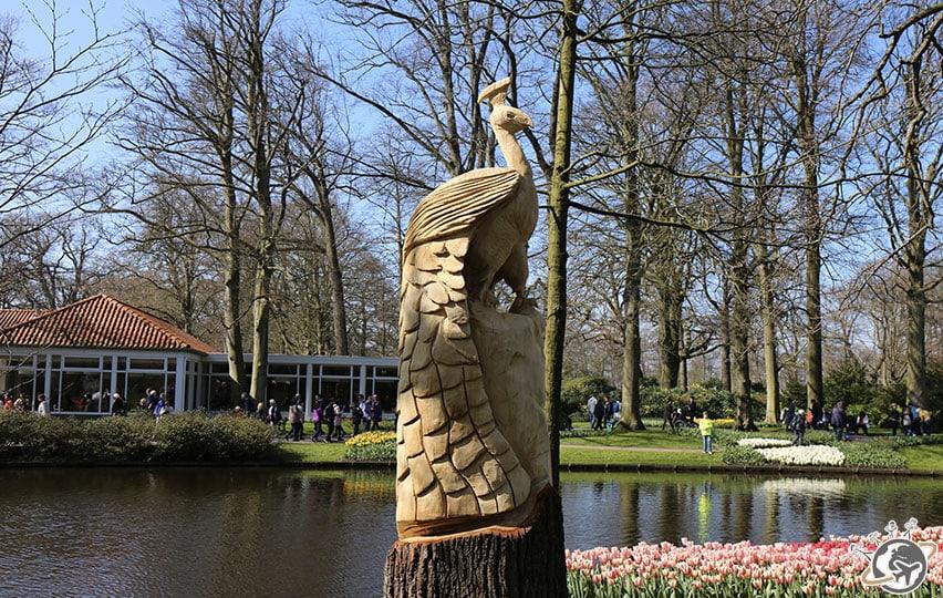 Les statues du jardin Keukenhof