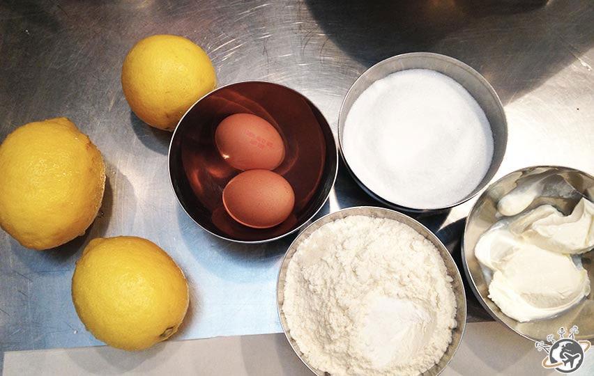 ingrédients du lemon cake