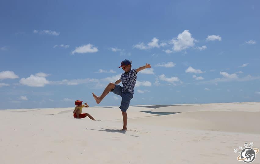 Les dunes dans les Grand Lencois au Brésil