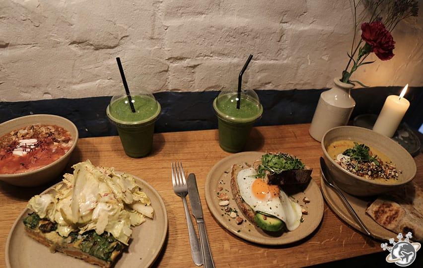Notre restaurant sur la jolie place de Neal's Yard à Londres