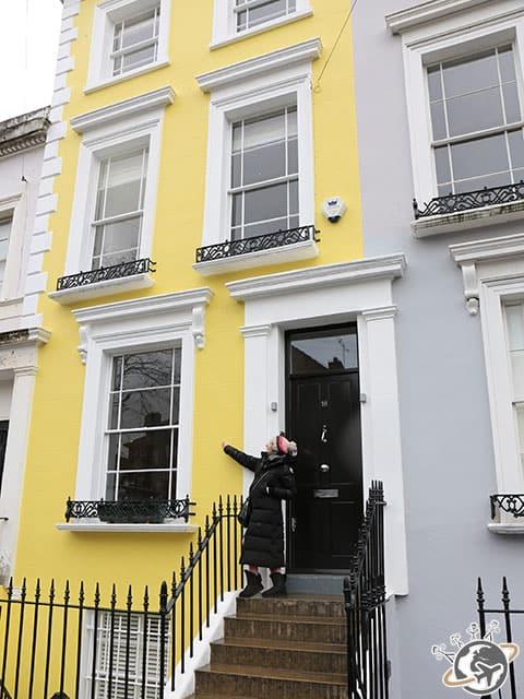 Les maisons colorées de Notting Hill à Londres