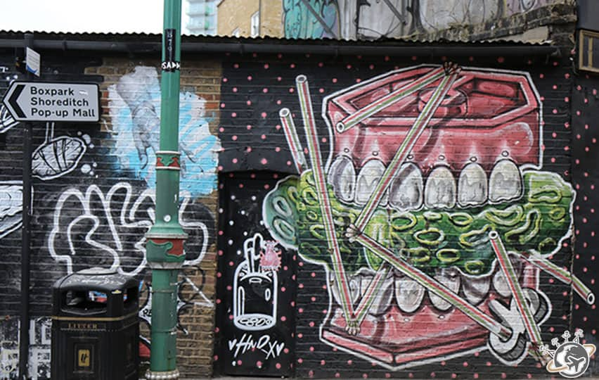 Shoreditch et Brick Lane sont les quartiers du street art à Londres