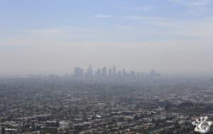 Vue sur la pollution de Los Angeles en Californie