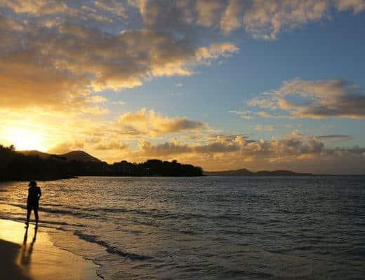 Lever de soleil à Sainte-Luce en Martinique