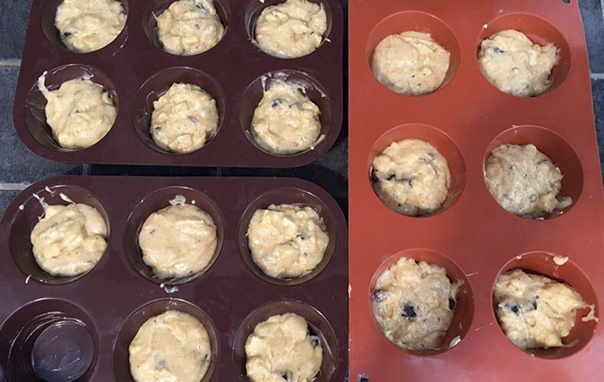 Les muffins avant cuisson