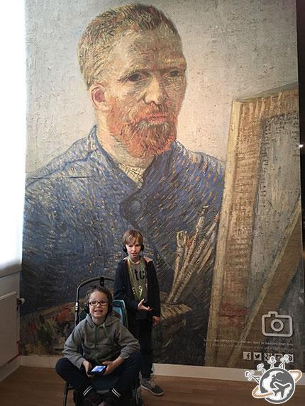 Le seul point photo dans le musée Van Gogh