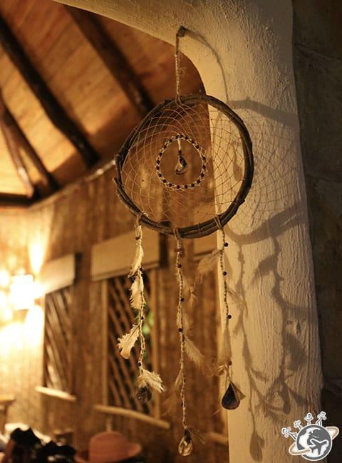 Un atrape-rêve dans la chambre au Natura Cabana, Cabarete, Puerto Plata