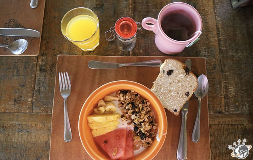 Petit déjeuner au Natura Cabana, Cabarete, Puerto Plata