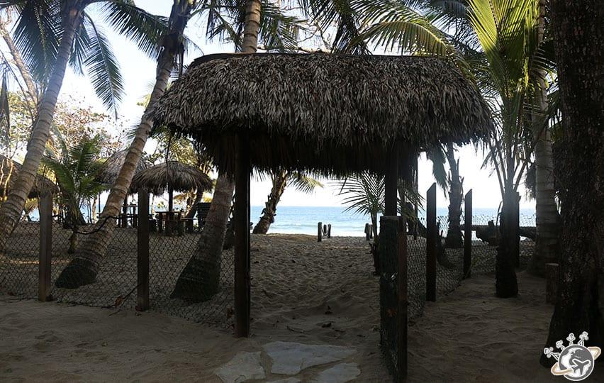 L'accès à la plage du Natura Cabana, Cabarete, Puerto Plata