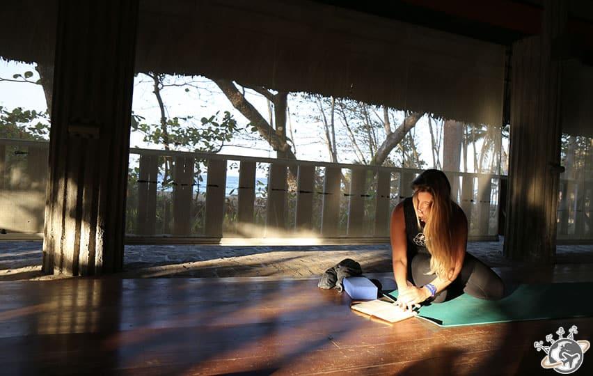 Séance de yoga à Natura Cabana à Cabarete