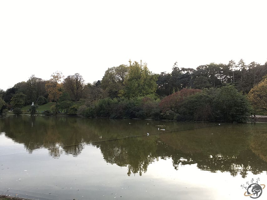 Le lac du parc Montsouris