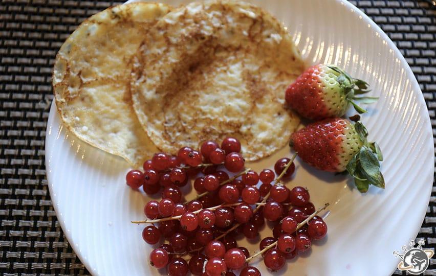 Les crêpes du petit déjeuner, un basique incontournable.
