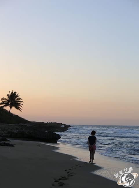 Coucher de soleil sur la plage de Natura Cabana, Cabarete, Puerto Plata