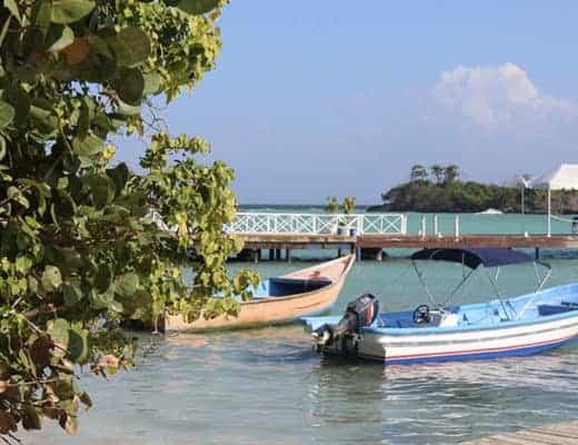 Près de Cayo Levantado à Samana en République dominicaine