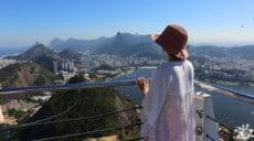 Vue du somment du Pain de Sucre à Rio au Brésil