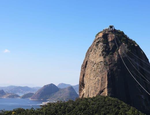 Le Pain de Sucre à Rio au Brésil