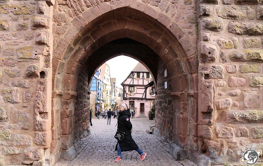 Pose à Riquewihr en Alsace