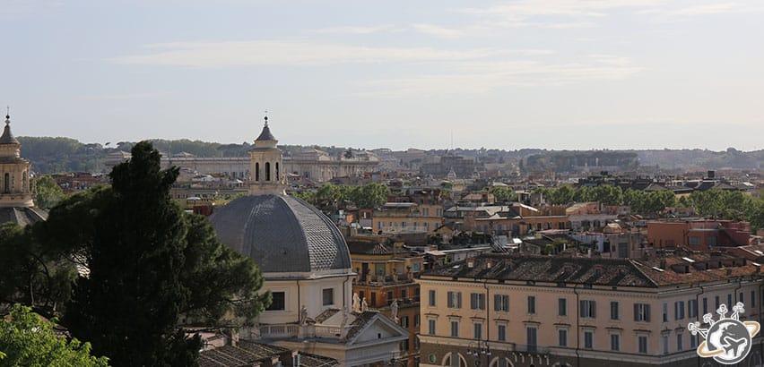 Rome vue du parc de la Villa Borghese
