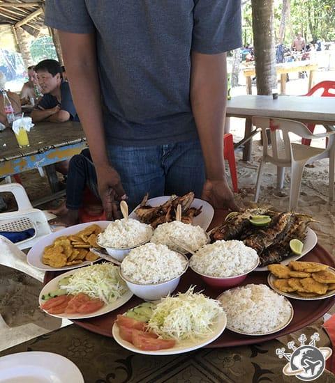 Le restaurant El Luis sur Playa Coson à Las Terrenas, Samana, République dominicaine