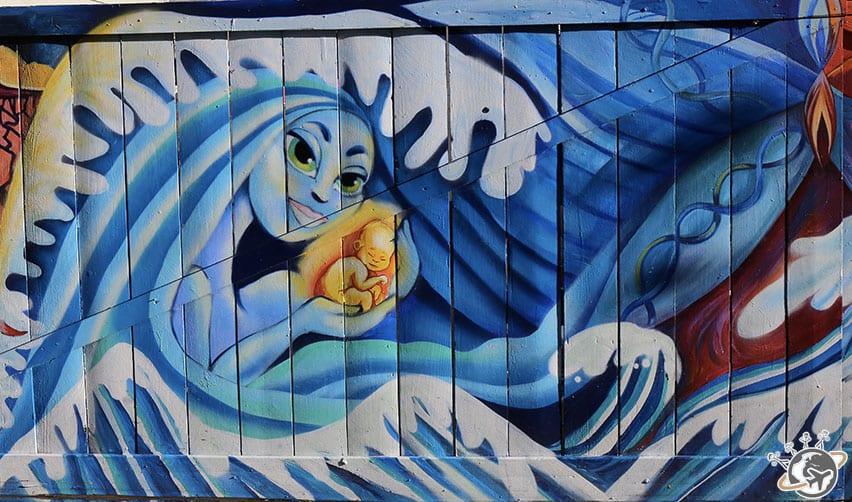 Le street art dans Clarion Alley à San Francisco