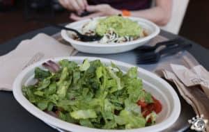 Déjeuner chez Chipotle sur state street à Santa Barbara en Californie
