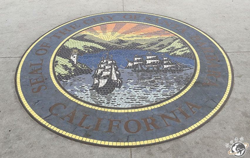 La cocarde de Santa Barbara en Californie